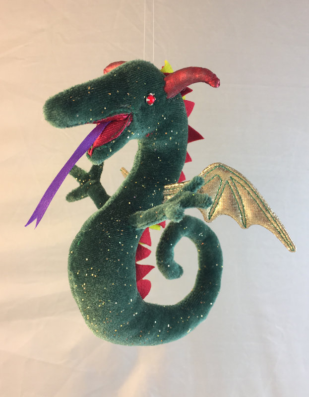 Wyvern in green & gold